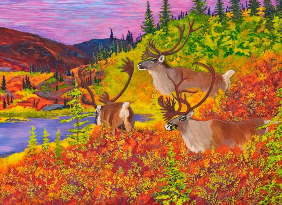 Caribou Bay Print (Cropped)