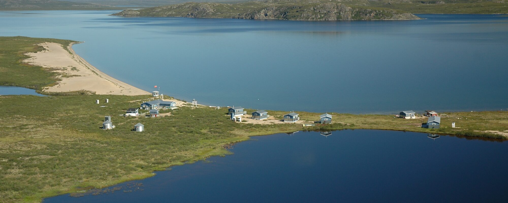 Peterson's Point Lake Lodge Canada Northwest Territories summer time