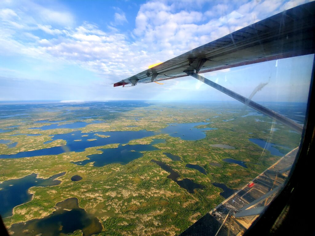 View from float plane window